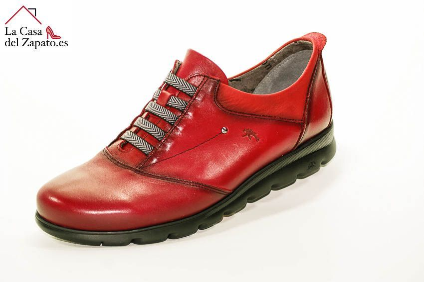 FLUCHOS F0354 Zapato de Mujer de Color Picota