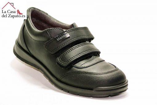 TITANITOS C840 Apolo Zapato Colegial de niño de color Negro