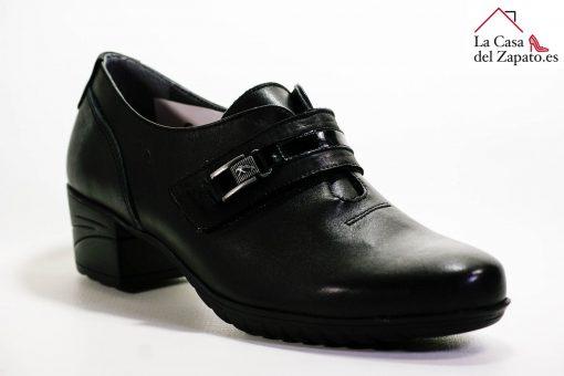 FLUCHOS F0587 Zapato de Mujer de Color Negro