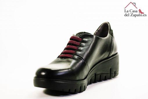 FLUCHOS F0698 Zapato de Mujer de Color Negro