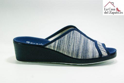 Zapatilla de Casa de Cuña Azul