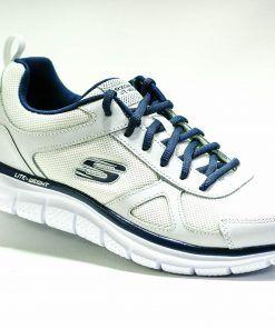 SKECHERS 52631 Deportiva para caminar de Hombre color blanco