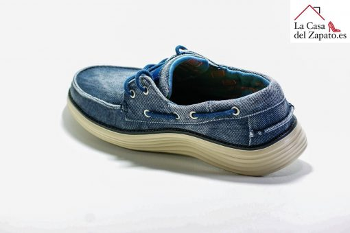 SKECHERS 65098 Deportiva para caminar de Hombre color azul