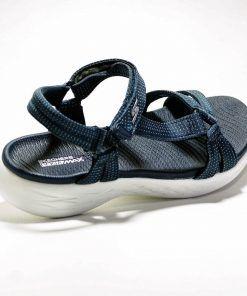 SKECHERS 15316 Sandalia para caminar de mujer color azul
