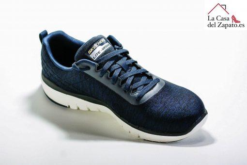 SKECHERS 52956 Deportiva para caminar de Hombre color azul