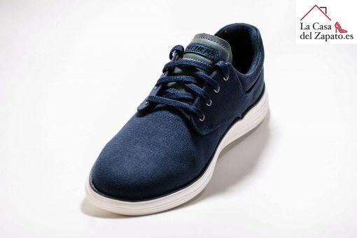 SKECHERS 204083 Zapato para caminar de Hombre color azul